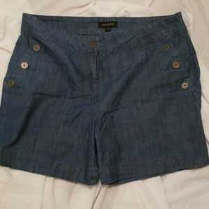 The limited blue denim shorts